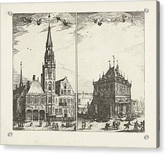 The Old Town Hall In Amsterdam And The Waag The Netherlands Acrylic Print by Quint Lox