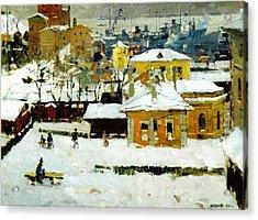 The Old Vladivostok   Vintage Prints Acrylic Print by Jake Hartz
