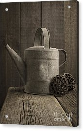 The Old Watering Can Acrylic Print by Edward Fielding