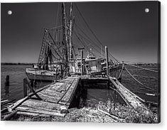 The Old Wharf In Brunswick Acrylic Print by Debra and Dave Vanderlaan