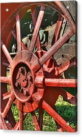 The Old Wheel Acrylic Print by Michael  Allen