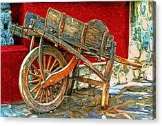 The Old Wheelbarrow Acrylic Print by Michael Pickett