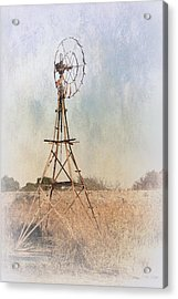 The Old Windmill Acrylic Print by Elaine Teague
