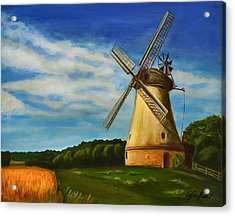 The Old Windmill Acrylic Print by Gynt Art