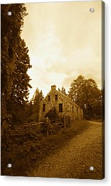 The Olde Stone Cottage Acrylic Print by Ron Haist