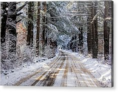 Acrylic Print featuring the photograph The Oldest Road After The Snow by Constantine Gregory