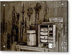 Acrylic Print featuring the mixed media The Ole Shop by Elaine Malott