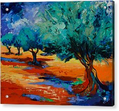 The Olive Trees Dance Acrylic Print