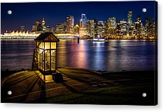 The Olympic Cauldron From Stanley Park In Vancouver Acrylic Print