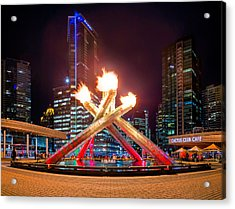 The Olympic Cauldron In Vancouver Acrylic Print