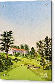 The Olympic Golf Club - 18th Hole Acrylic Print by Bill Holkham