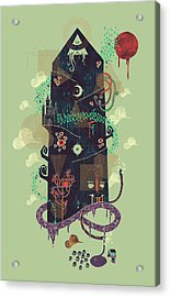 The Ominous And Ghastly Mont Noir Acrylic Print by Hector Mansilla