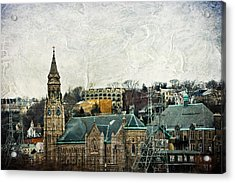 The Only Good Thing About The Highway Is The Scenery Acrylic Print by Trish Tritz