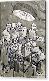 The Operation Theatre, 1966 Acrylic Print by Osmund Caine