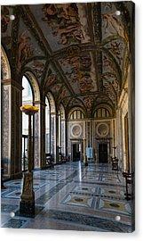 The Opulent Loggia In Villa Farnesina Rome Italy - 1 Acrylic Print by Georgia Mizuleva