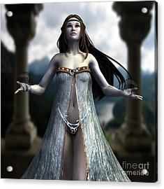 Acrylic Print featuring the digital art The Oracle by Sandra Bauser Digital Art