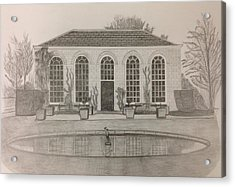 The Orangery Acrylic Print by Norman Richards
