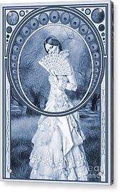 The Orchard Cyanotype Acrylic Print by John Edwards