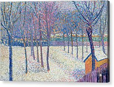The Orchard Under The Snow  Acrylic Print