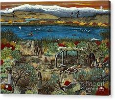 The Oregon Paiute Acrylic Print by Jennifer Lake