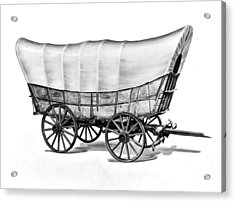 The Original Prarie Schooner Acrylic Print by Underwood Archives
