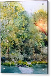 The Other Side Acrylic Print by Elaine Frances Moriarty
