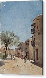 The Ouled Nail Quarter, Biskra, April 1889  Acrylic Print by Henri Duhem