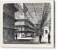 The Outbreak Among The Convicts At Chatham Interior Of St Acrylic Print by English School