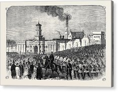 The Outbreak Among The Convicts At Chatham St Acrylic Print by English School