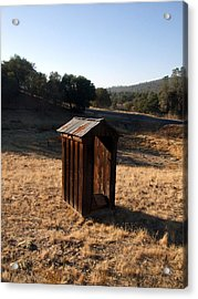 The Outhouse Acrylic Print by Richard Reeve