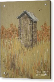 The Outhouse Acrylic Print by Suzanne McKay