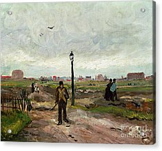 The Outskirts Of Paris Acrylic Print by Vincent van Gogh
