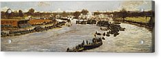 The Oxford And Cambridge Boat Race Acrylic Print by James Macbeth