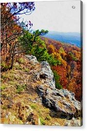 The Ozarks In Autumn Acrylic Print by Ann Powell