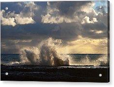 The Pacific Calms Down Acrylic Print by Joe Schofield