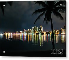 The Painted City Acrylic Print by Rene Triay Photography