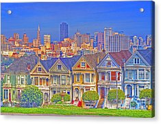 The Painted Ladies Acrylic Print