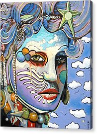 The Painted Lady Acrylic Print by James  Lalepop Becker
