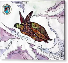 The Painted Turtle Acrylic Print by Pat Purdy