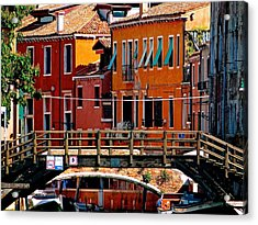 The Painters Eye In Venice Acrylic Print by Ira Shander
