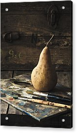 The Painter's Pear Acrylic Print