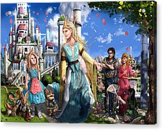 Acrylic Print featuring the painting The Palace Garden  by Reynold Jay