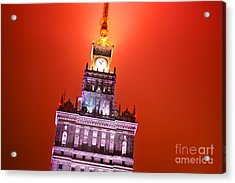 The Palace Of Culture And Science Warsaw Poland  Acrylic Print by Michal Bednarek