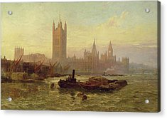 The Palace Of Westminster, 1892  Acrylic Print by George Vicat Cole