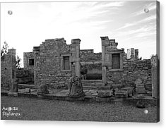 The Palaestra- Apollo Sanctuary  Acrylic Print by Augusta Stylianou