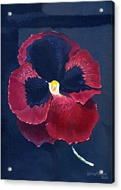 Acrylic Print featuring the painting The Pansy by Katherine Miller