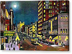 The Pantages Theatre In Seattle Wa Around 1910 Acrylic Print by Dwight Goss