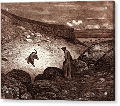 The Panther In The Desert, By Gustave Dore Acrylic Print by Litz Collection