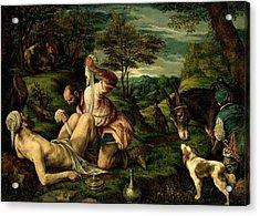 The Parable Of The Good Samaritan Acrylic Print by Francesco Bassano