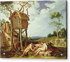 The Parable Of The Wheat And The Tares Acrylic Print by Abraham Bloemaert